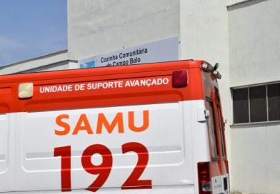 Campo Belo:  Homem atropelado  tem fratura grave na perna