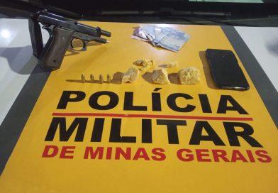 Pouso Alegre: Homem é preso com drogas e pistola