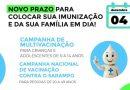 Campo Belo: Campanhas de Multivacinação, Pólio e Sarampo, continuam até dia 04 de dezembro
